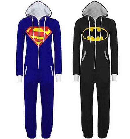 Batman/Superman Hooded Adult Onesie