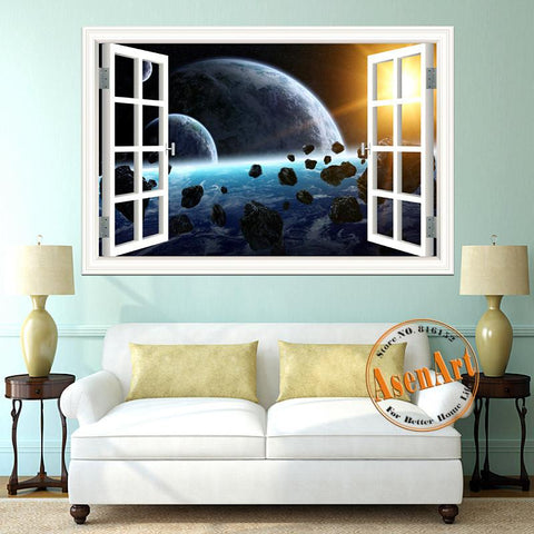Window Into Space 3D Wall Sticker