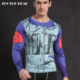 Anime Cosplay Armor Skin Dry-Fit Long Sleeve