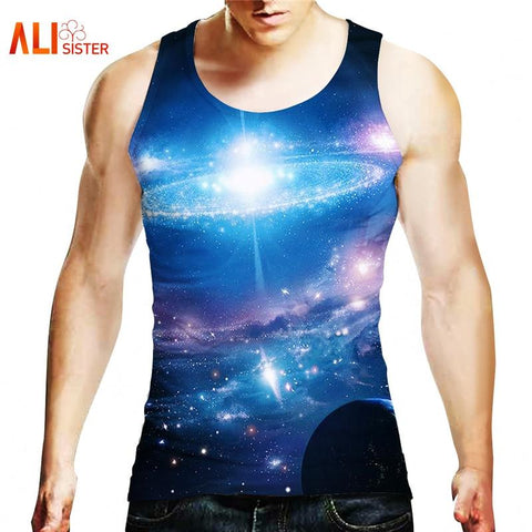 Outerspace Printed Tank Top