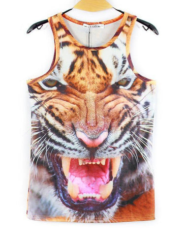 Animal Faces Tank Tops