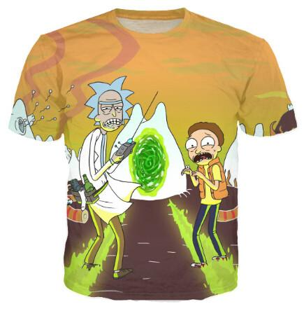 Rick and Morty McFly 3D Tee