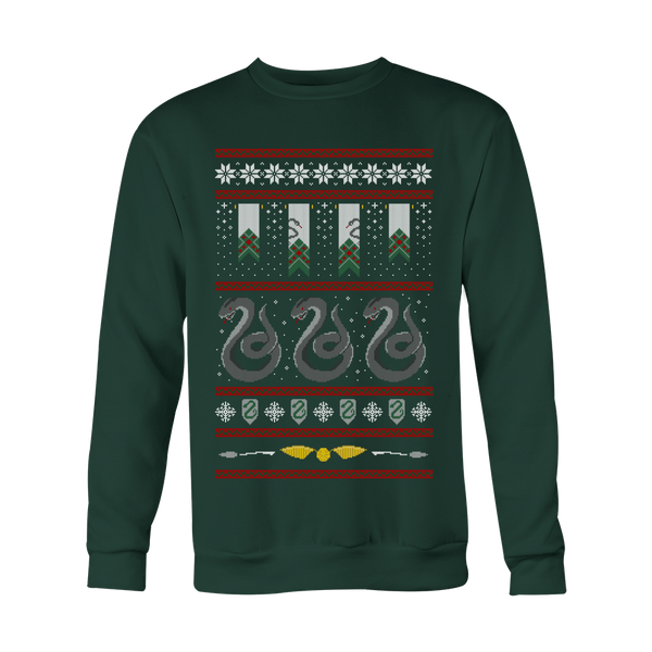 Slytherin Retro Xmas Sweater