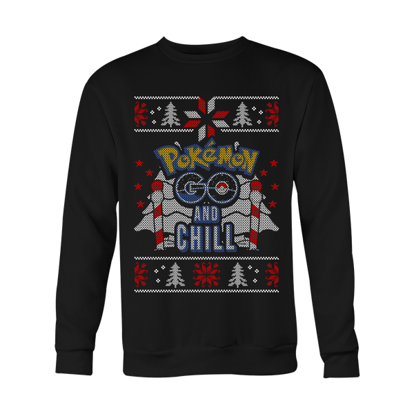 Poke Go and Chill Xmas Sweater LIMITED EDITION