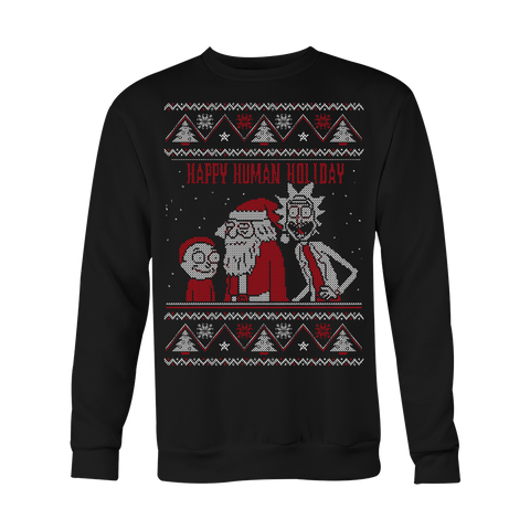 Happy Human Holiday Ugly Xmas Sweater LIMITED EDITION