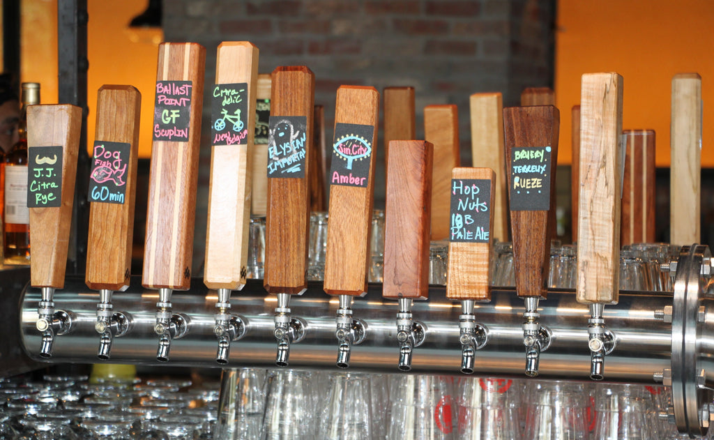 Custom Wood Tap Handles