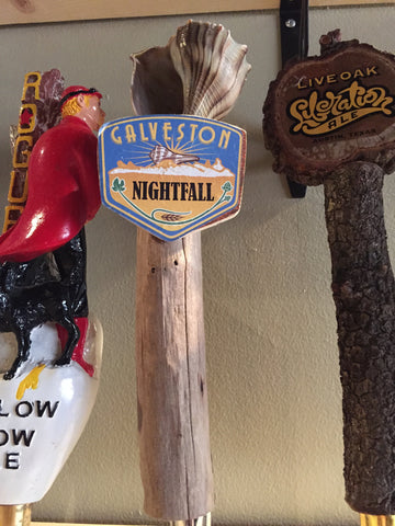 Galveston Island Brewing Nightfall Beer Tap Handle
