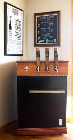 Finished Keezer from the build.