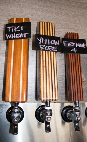 Wood Tap Handles with Chalkboard