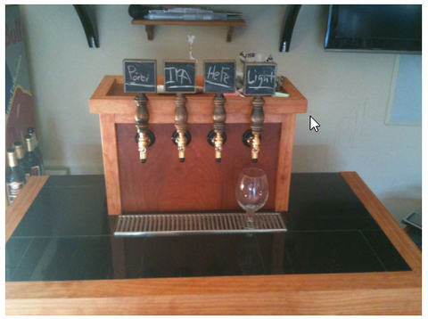 Keezer with a Coffin Top for the Taps