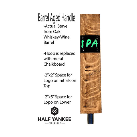 Whiskey Barrel Tap Handle with Chalkboard