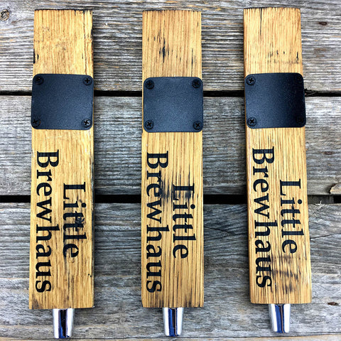 Barrel Stave Beer Tap Handle with Chalkboard