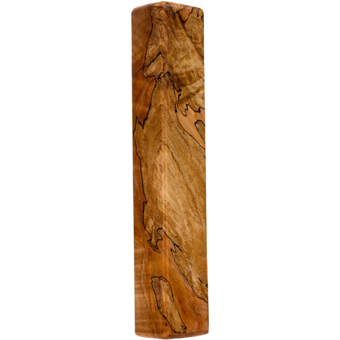 Blackline Spalted Maple Wood Beer Tap Handle Angled View