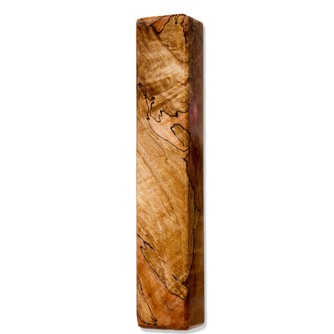 Blackline Spalted Maple Wood Beer Tap Handle Angled View 2