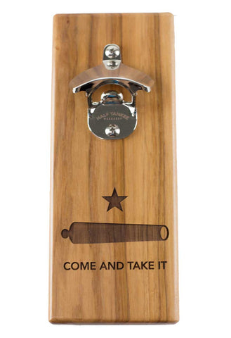 Cap 'n' Catch Bottle Opener - Come and Take It - Pecan