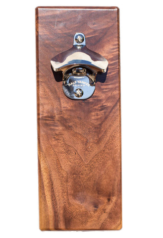 Cap 'n' Catch Bottle Opener - Figured Walnut