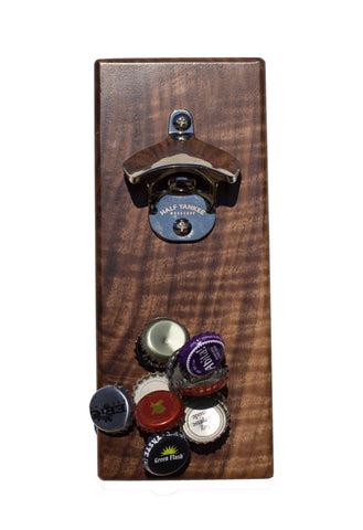 Figured Walnut Magnetic Bottle Opener