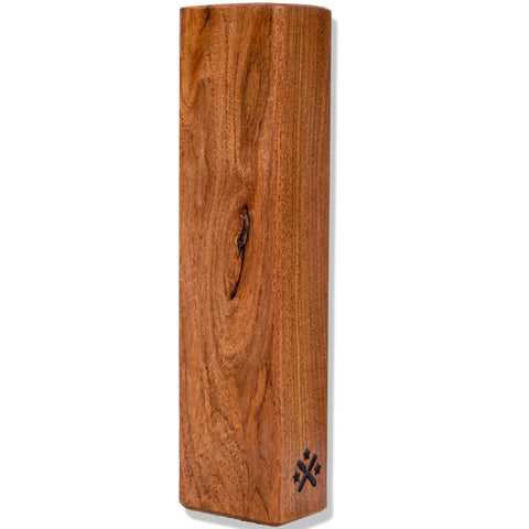 Honey Mesquite Wood Beer Tap Handle Angled View