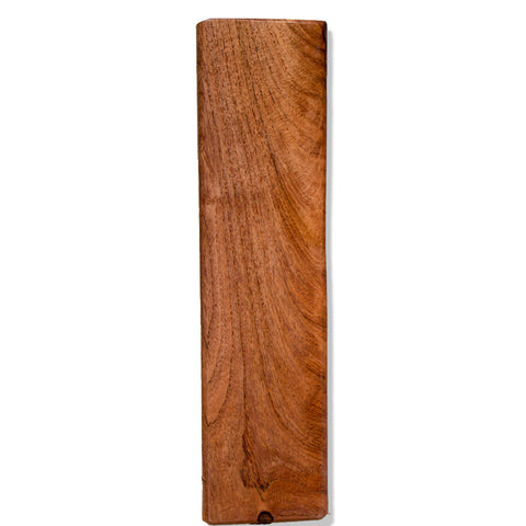 Honey Mesquite Wood Beer Tap Handle Front View 2