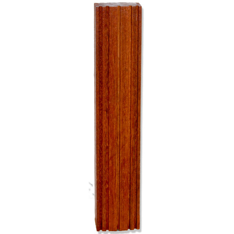 Jatoba Grooves Wood Beer Tap Handle Front View