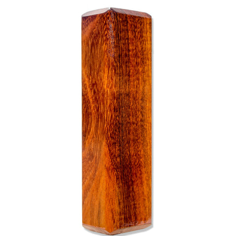 Koa Burl Stubby Wood Beer Tap Handle Angled View