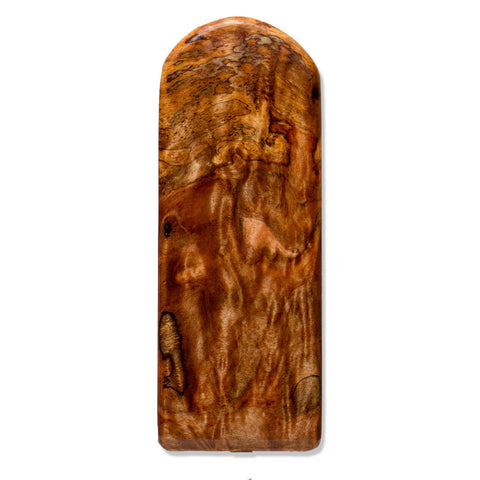 Maple Burl Stubby Wood Beer Tap Handle Front View