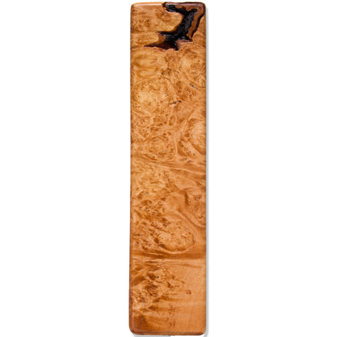 Maple Burl Wood Beer Tap Handle Front View
