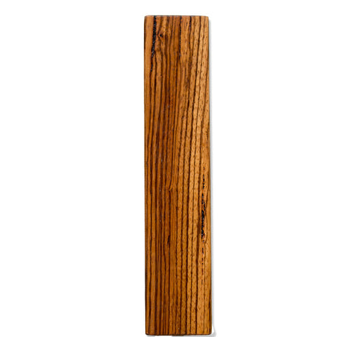 Zebra Wood Beer Tap Handle Front View