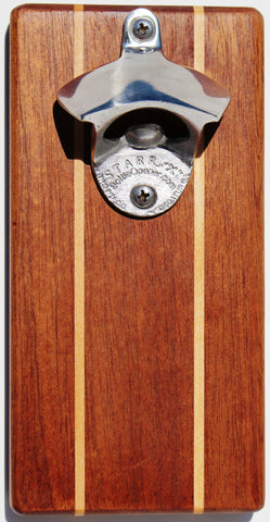 Sapele Cap 'n' Catch Bottle Opener
