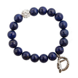 Blue Lapis Serpent Bracelet
