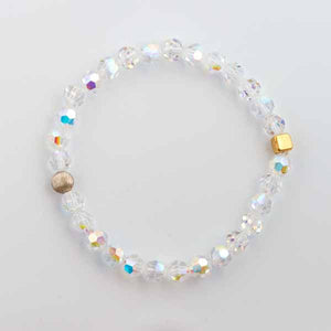 Clear Swarovski Stretch Bracelet