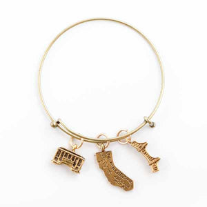 San Francisco California Gold Bracelet