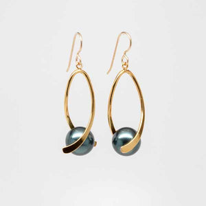 Swarovski Tahitian Pearl Swivel Earrings