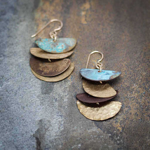 Cascading Patina Earrings