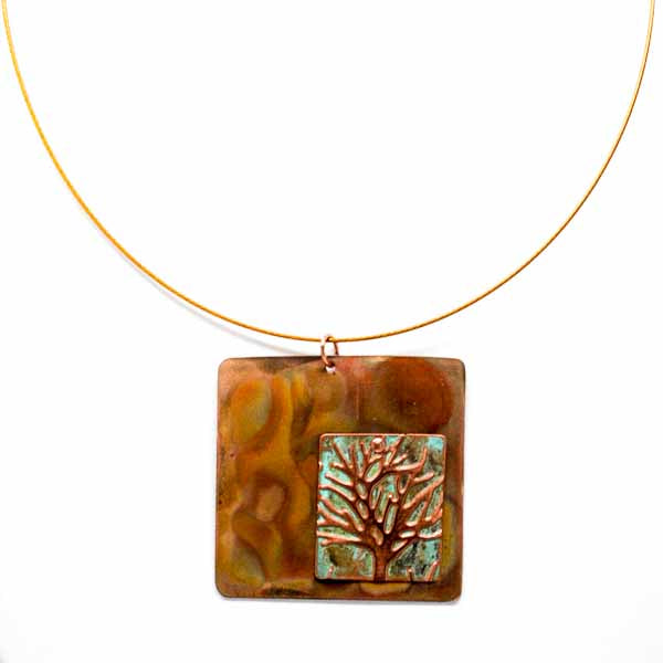 Copper & Patina Tree of Necklace