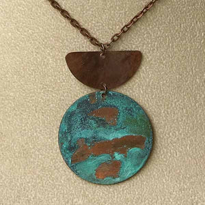 Copper Swash Patina Necklace