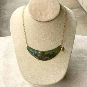 Crescent Patina Necklace