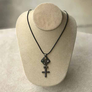 Antique Rustic Cross Necklace