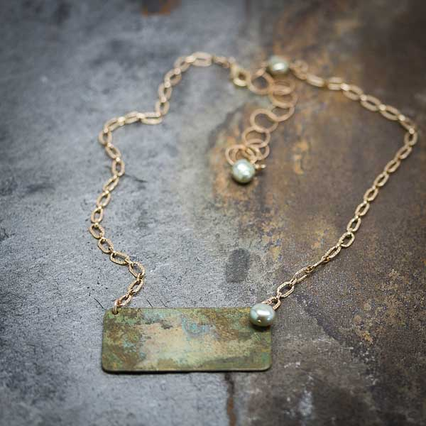 Mellow Patina with Pearl Necklace