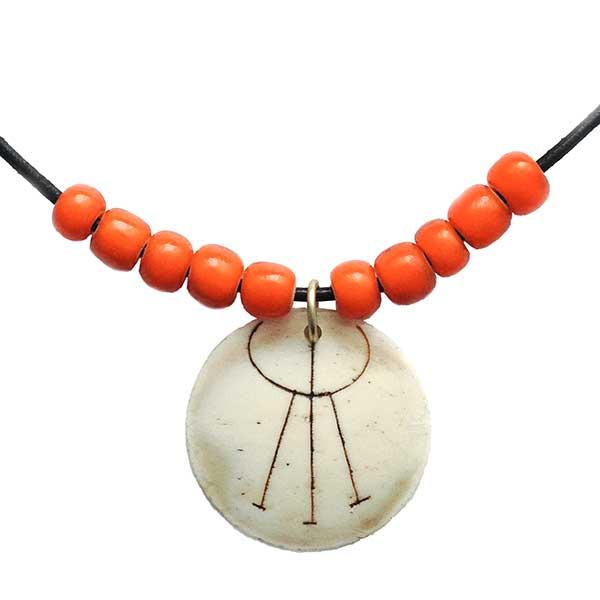 Tribal Orange Necklace