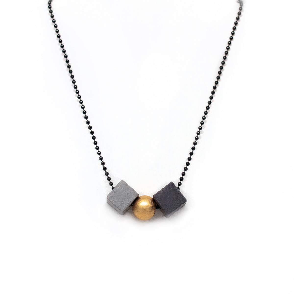 Concrete Mixed Geometric Necklace B-G-C