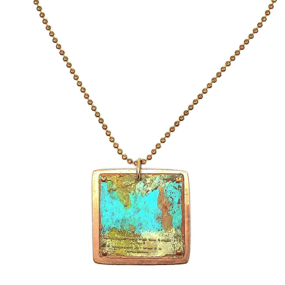 Copper Afternoon Patina Necklace