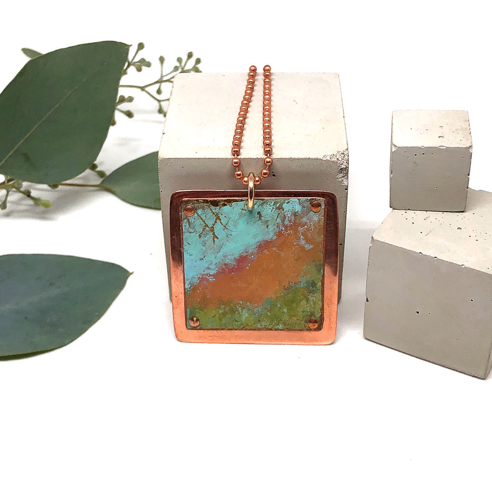 Copper Field Patina Necklace