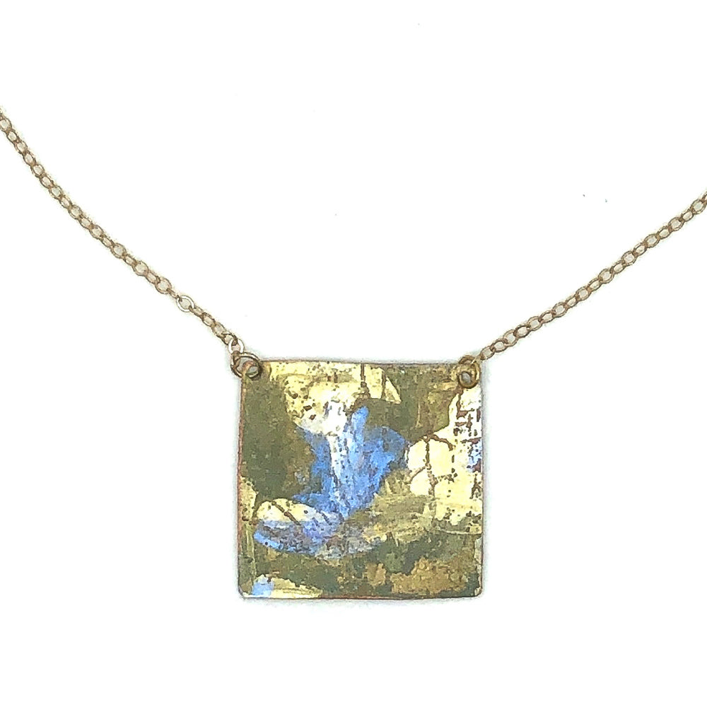 Foliage Painted Patina Necklace