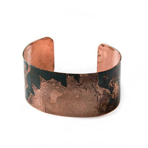 Teal & Copper Cuff Bracelet - JUICY JEWELRY - 3