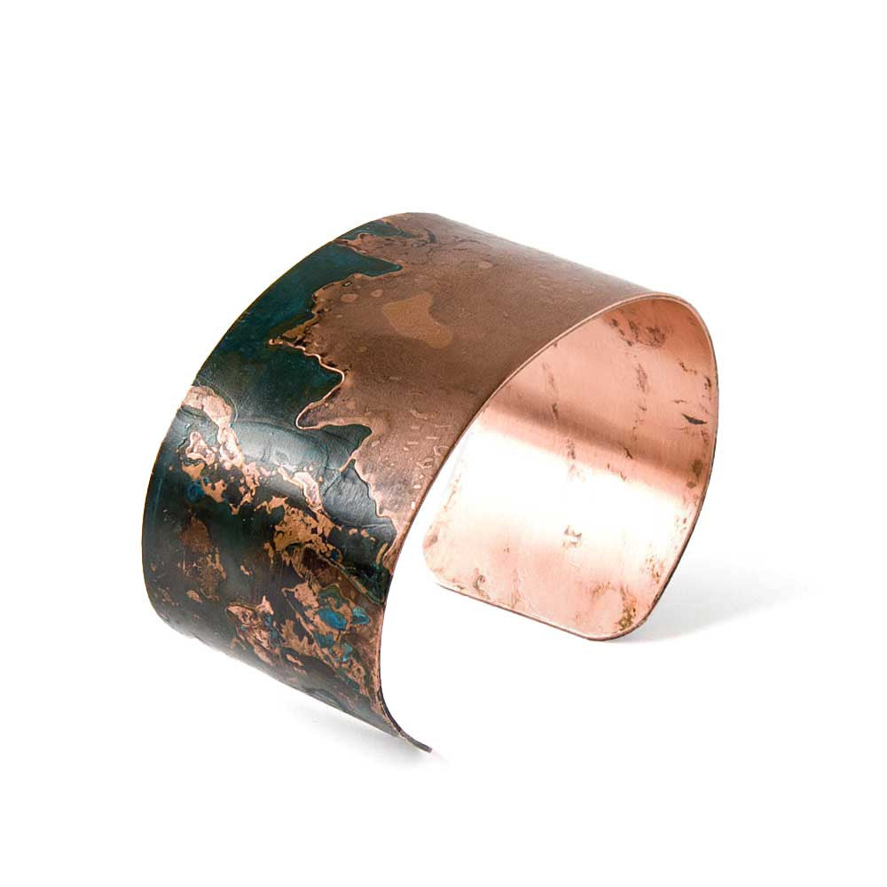 Teal & Copper Cuff Bracelet - JUICY JEWELRY - 1