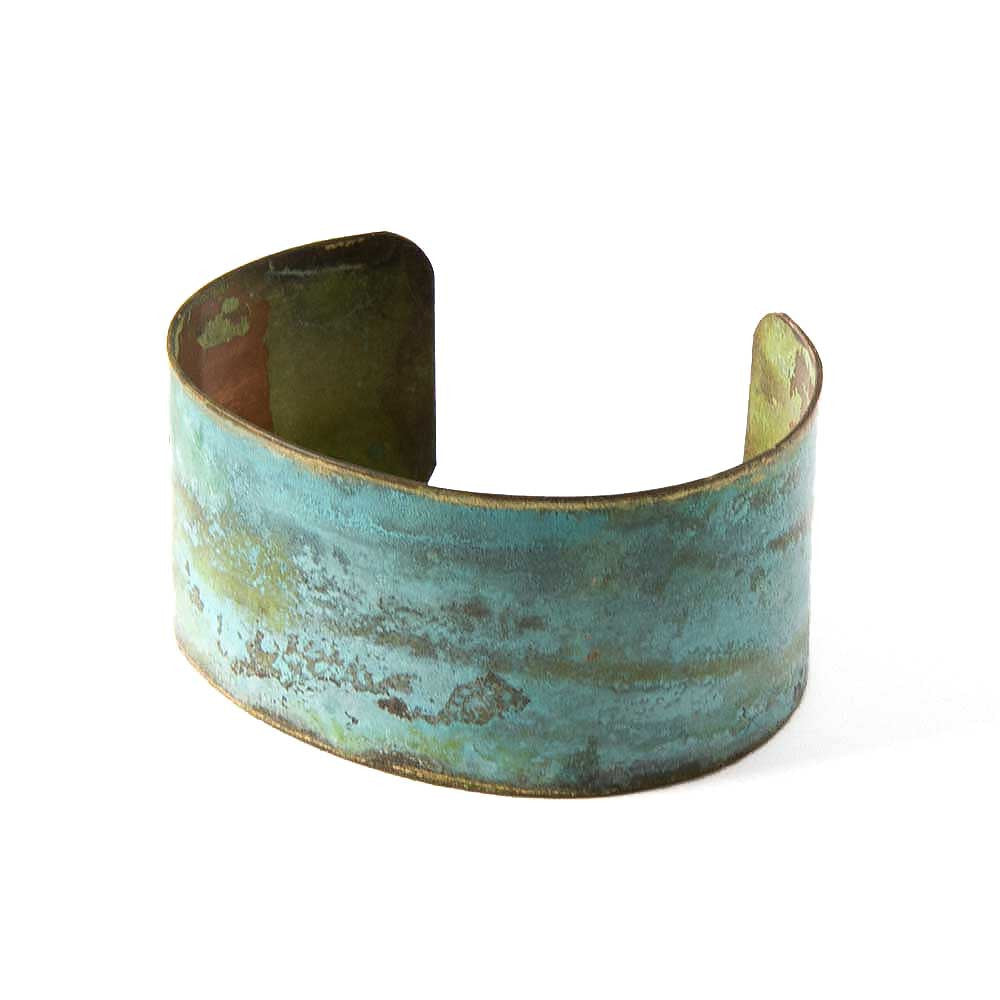 Turquoise Patina Cuff Bracelet - JUICY JEWELRY