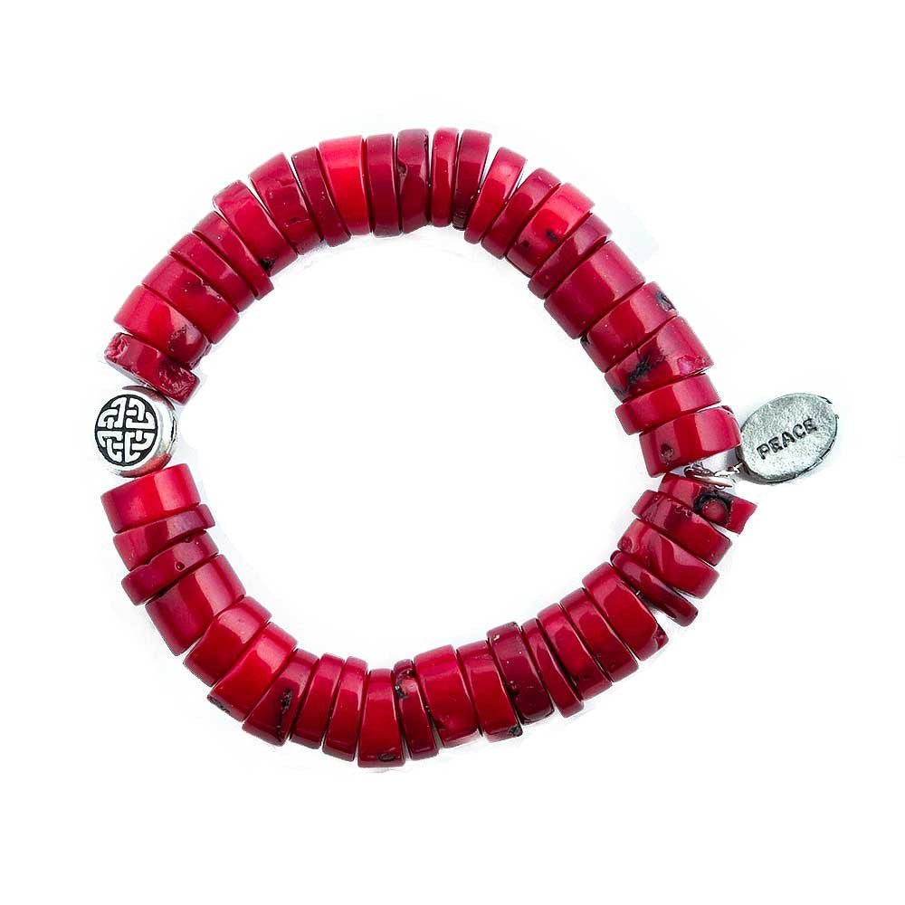 Coral Peace Bracelet - JUICY JEWELRY