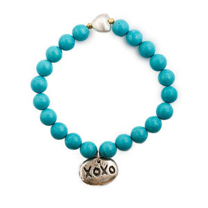 Turquoise XOXO Bracelet - JUICY JEWELRY