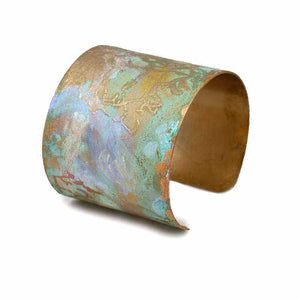 Iridescent Patina Painted Cuff - I